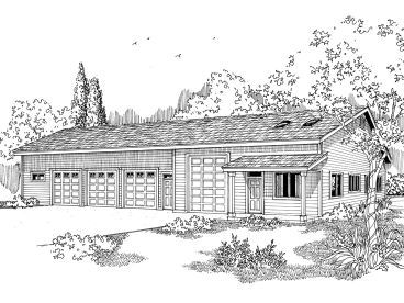 Not So Very Unique Garage Plan 051g 0023 But Serviceable Craftsman Style House Plans Garage Plan Garage Plans