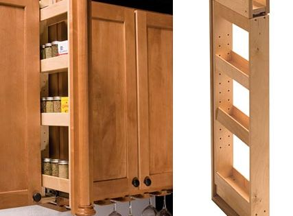 Pull Out Spice Rack For The Home Pinterest Kitchens