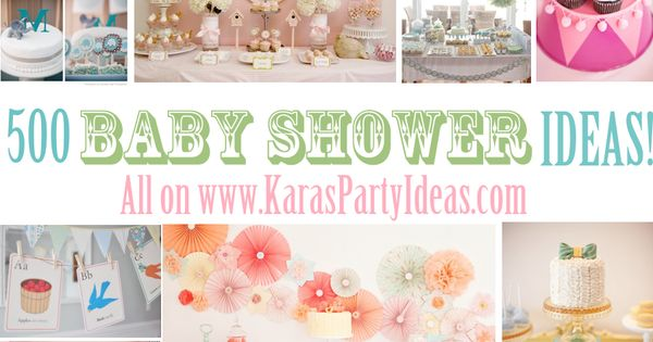 500 BABY SHOWER IDEAS via www.KarasPartyIde... babyshower