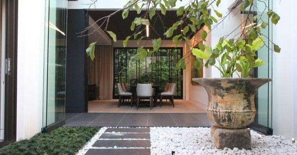 Jardin estilo zen con guijarros garden pinterest - Pequenos jardines zen ...