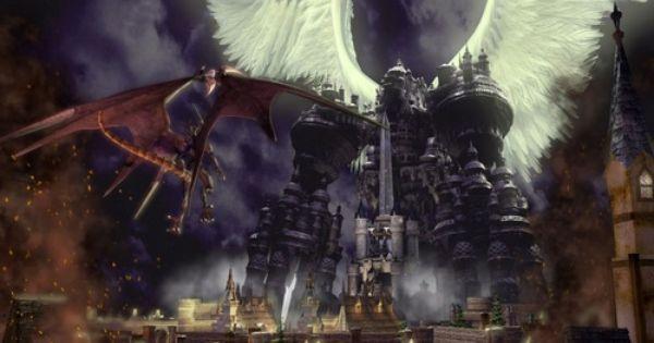 Final Fantasy Wallpaper Alexander Vs Bahamut Final Fantasy Ix Bahamut Final Fantasy Final Fantasy Vii