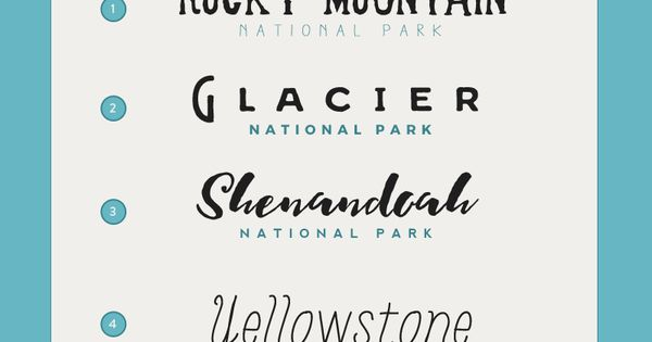 Good Font Combinations For Wedding Invitations: Font Pairings For Your National Park Wedding Invitations