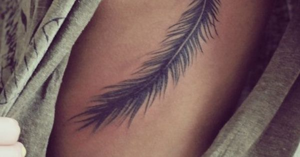 Feather tattoo! maybe in white ink?