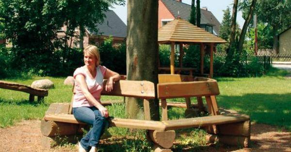 Ideas para hacer mesa alrededor de un arbol en el jardin - Jardin con arboles ...