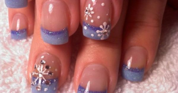 christmas nails snowflake nails nailart purple