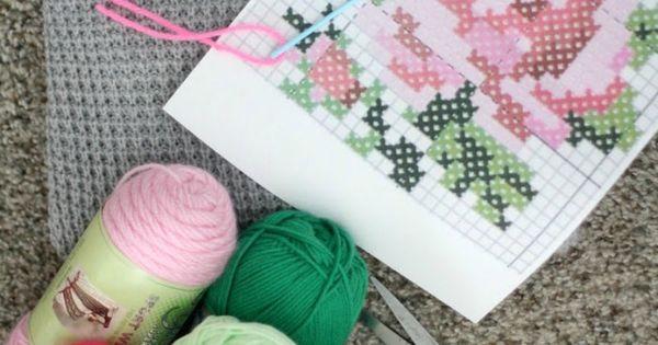 DIY Cross Stitch Flower Sweater | Stitches, Yarns and Flower