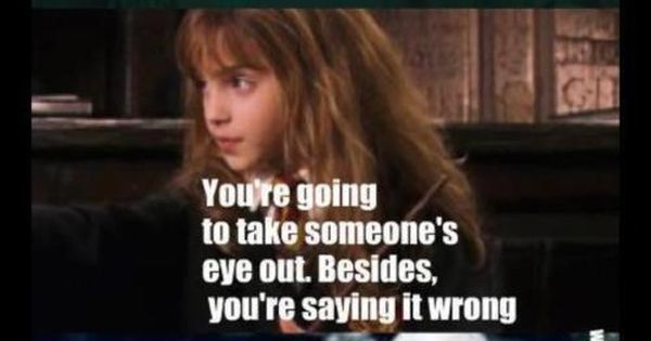 Only Hermoine. hahaha! HarryPotter