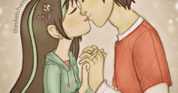 Sweet Kiss of Hiro Hamada and Vanellope von Schweetz   Big ...