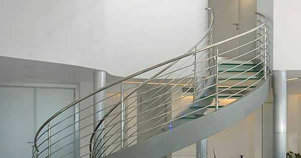 Best Glass Spiral Staircase I Love The Small Lights On The 400 x 300