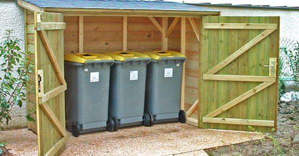 abri poubelles sur devis livr install par abris cabane kiosque pinterest. Black Bedroom Furniture Sets. Home Design Ideas