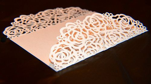 Rose Card Cricut Wedding Invitations Cricut Wedding Cricut Invitations