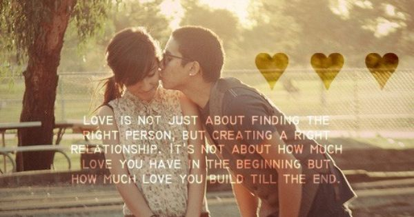 Gotta love em cheesy quotes -- Love is not just about finding