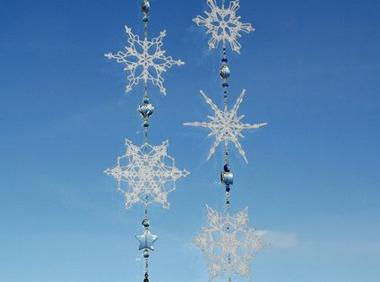 Ane Scherrer's Beaded Snowflake Ornaments... making something like this would be cute