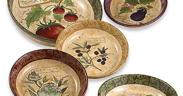 Sienna 5-Piece Pasta Bowl Set
