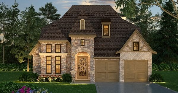 This lovely luxury house plan is designed for a narrow lot for Luxury empty nester house plans