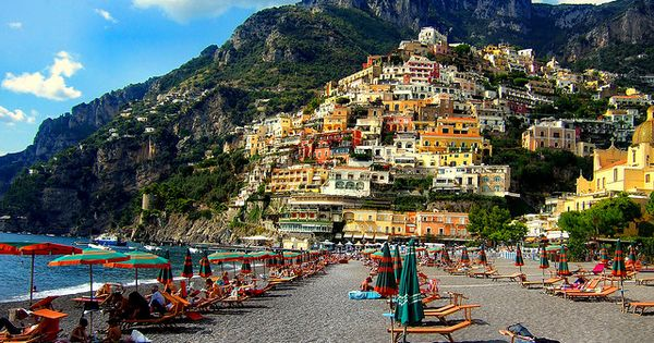Beach View, Positano, Italy My favorite place in the world!