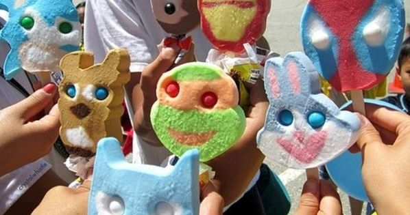 Crazy gumball eyes in ice cream...I totally remember getting these all the