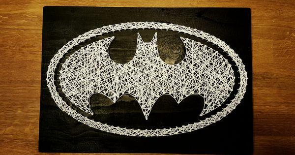 Diy Batman String Art Diy Pinterest Discover More