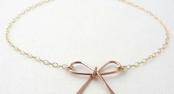Rose Gold Bow Bracelet Uncovet WANNT. NEEED.