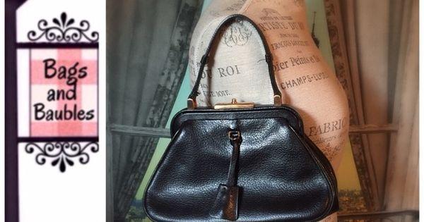 Listing: PRADA Black Madras Cerniera Framed Bag | Prada, Candados ...