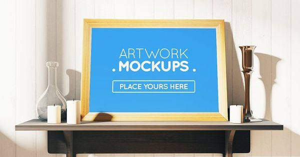 Posters or Banners design with desktop mockups