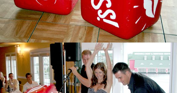 Gift Ideas For Mc At Weddings: Fun Big Wedding Dice Made From Styrofoam! Great Game