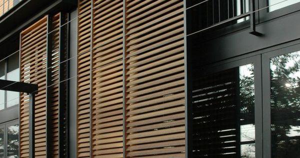 Sliding Exterior Louver System Villa Artes