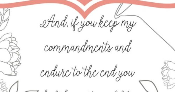 Keep the commandments free printable lds scriptures for Keep the commandments coloring page