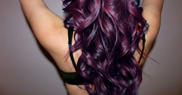 Eggplant purple; LOVE it! Wish I had blond hair so I could