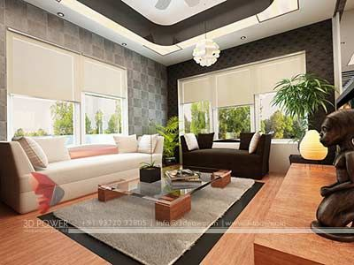 Living Hall Home 3d Interior Rendering With Images Hall
