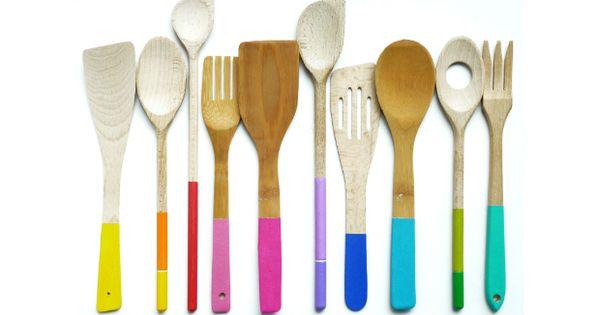 DIY: Dejte vařečkám barevný nátěr! | Prima Fresh | DIY ...