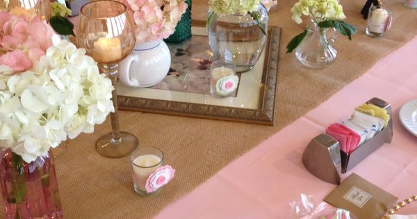 Shabby chic baby shower picture frame or vintage mirrored