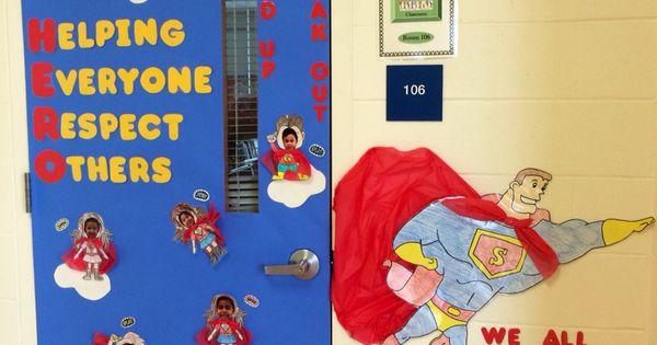 Superhero Anti Bullying Door Decoration School Stuff