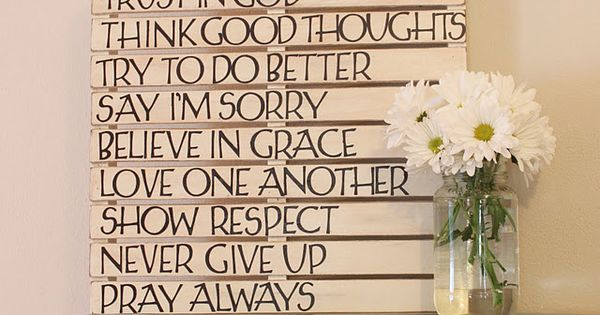 "paint a pallet... stencil on ""family rules"" a cute quote... anything"