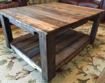 Reclaimed Wood Square Coffee Table Living Room Square Accent End