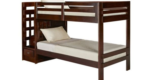 Oak Furniture West Campus Twin Bunk Bed With Storage