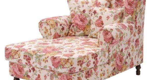 sessel mit verspieltem blumenmuster shabby chic. Black Bedroom Furniture Sets. Home Design Ideas