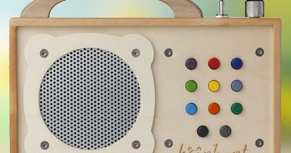 Hörbert is a stunning, wooden MP3 player for kids that can be