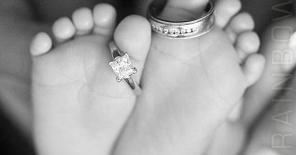 .... because two people fell in love. Love the baby feet and