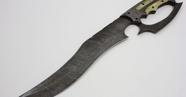 """Arizona Custom Knives's """"Damascus D-Guard Fighter"""" 