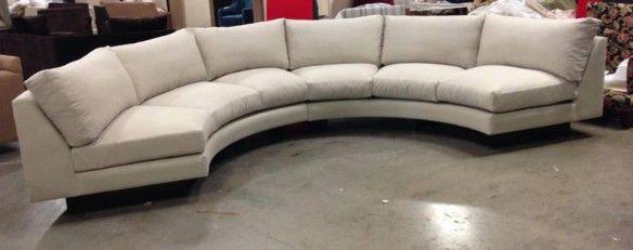 Modern Half Moon Sofa Round Sofa Material Custom Made In Usa