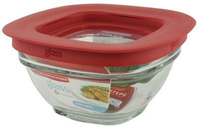 Rubbermaid Food Storage Container Freezer Glass 1 Cup Square Pack Of 4 This Is An Glass Food Storage Glass Food Storage Containers Food Storage Containers