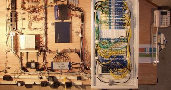 Whole House Structured Wiring Networking Set Ups Cabinets Panels Picture Structured Wiring Smart Home Technology Home Tech