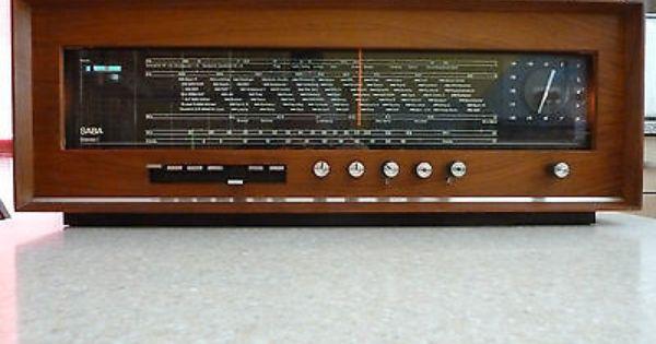 Saba Stereo I Mod Sri 16 1960 S Valve Radio Vintage Radio Antique Radio Retro Radios