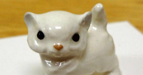 Hagen Renaker Cat Miniature Figurine Persian Cat Kitten Ebay
