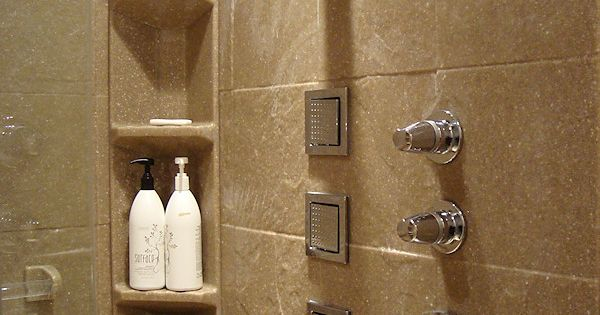 Slate Tile Shower Panels With Corner Caddy Onyx Collection Showers Pinterest
