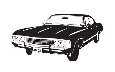 The Impala 67 Art Print Impala Supernatural Impala Car Silhouette
