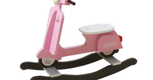 Pink Vespa Rocker. awesome.