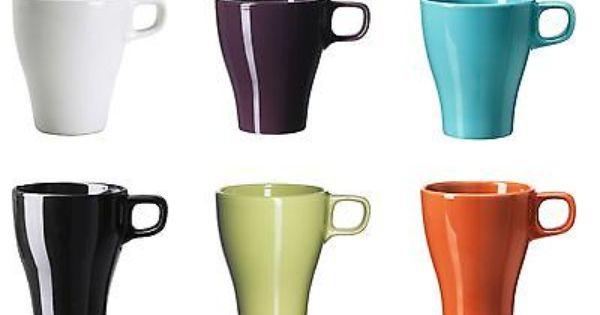 IKEA FÄRGRIK Becher Tasse Kaffeebecher Kaffeetassen, weiß
