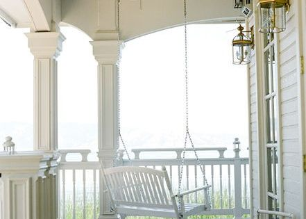 A wrap around porch with a swing! This is my dream porch!